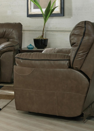 Milan Power Lay Flat Recliner - Smoke