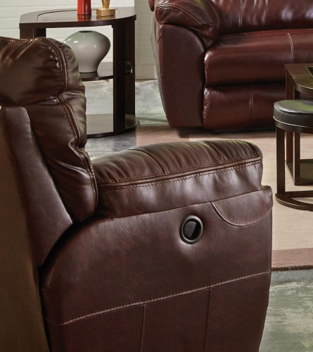 Milan Power Lay Flat Recliner - Walnut