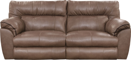 Milan Power Lay Flat Reclining Sofa - Smoke