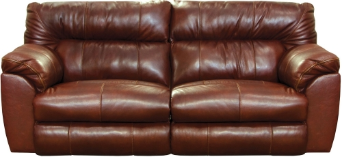 Milan Power Lay Flat Reclining Sofa - Walnut