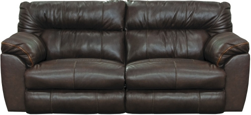 Milan Power Lay Flat Reclining Sofa - Chocolate