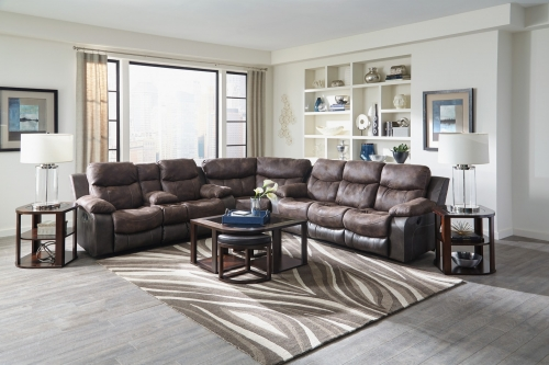 Henderson Reclining Sectional Sofa Set - Dusk