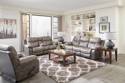 Henderson Power Reclining Sofa Set - Steel