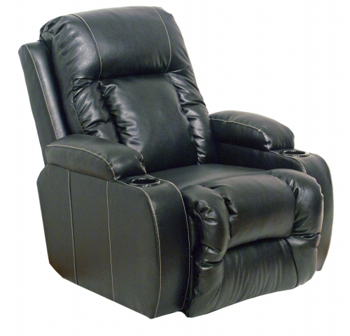 Top Gun Bonded Leather Power Home Theater Recliner - Black