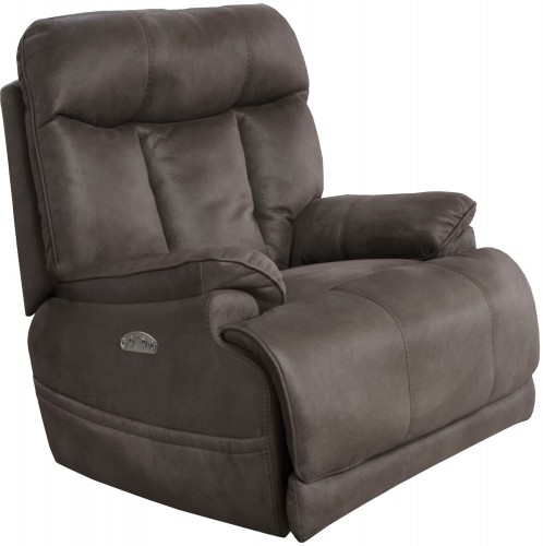 Amos Power Recliner Chair - Charcoal