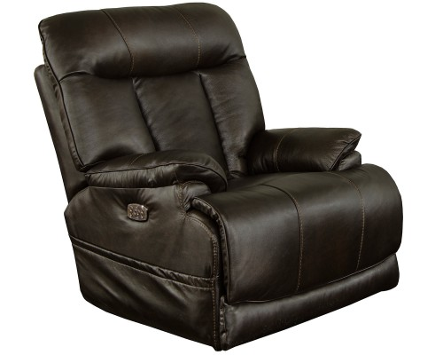 Naples Leather Power Recliner Chair - Chocolate
