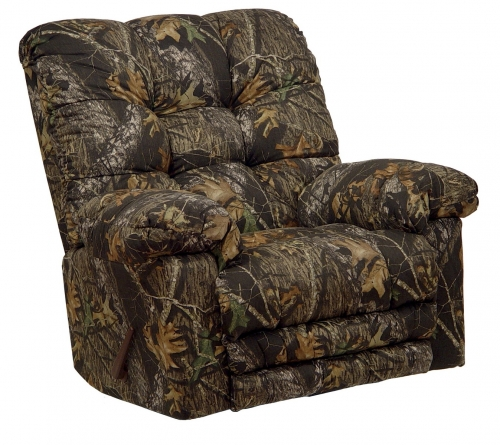 Magnum Chaise Rocker Recliner with Heat and Massage - Mossy Oak New Breakup