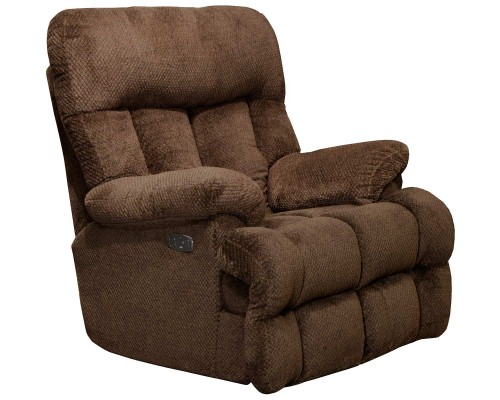 Manley Power Recliner Chair - Chocolate