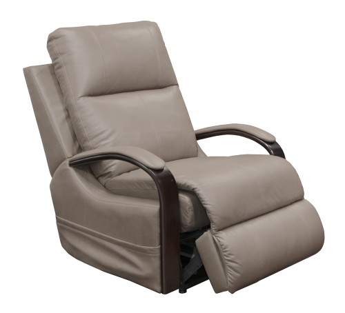 Gianni Glider Recliner Chair - Light Grey