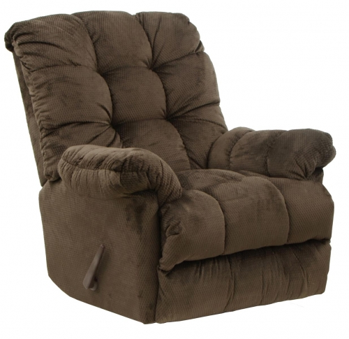Nettles Chaise Rocker Recliner with Deluxe Heat and Massage - Umber