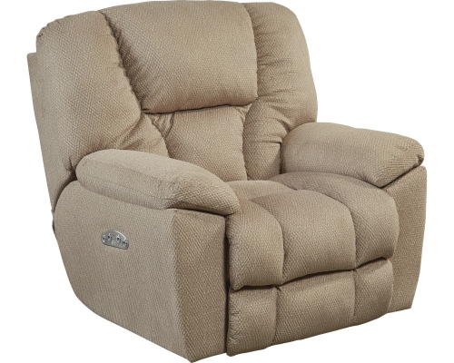 Owens Power Headrest Power Lumbar Power Lay Flat Recliner - Doe
