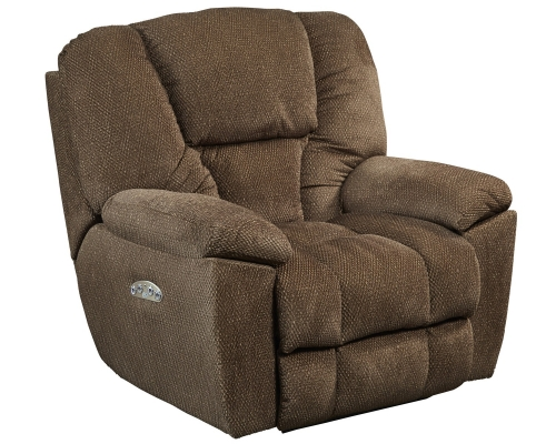 Owens Power Headrest Power Lumbar Power Lay Flat Recliner - Hickory