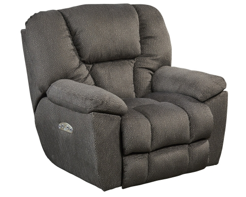 Owens Power Headrest Power Lumbar Power Lay Flat Recliner - Seal