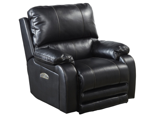 CatNapper Thornton Power Headrest Power Lumbar Power Lay Flat Recliner - Black