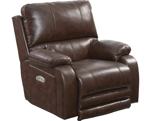 CatNapper Thornton Power Headrest Power Lay Flat Recliner - Java