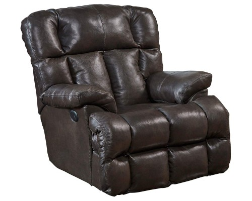Victor Leather Rocker Recliner Chair - Chocolate
