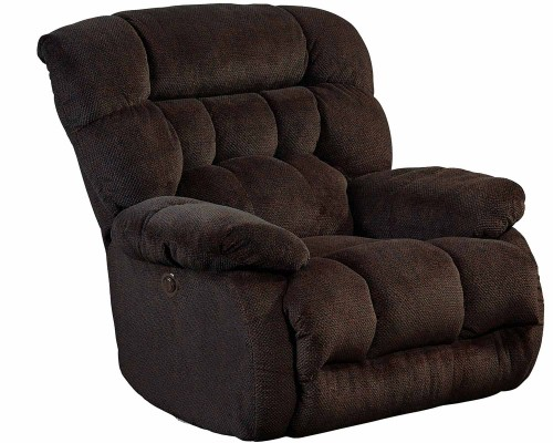 Daly Chaise Rocker Recliner Chair - Chocolate