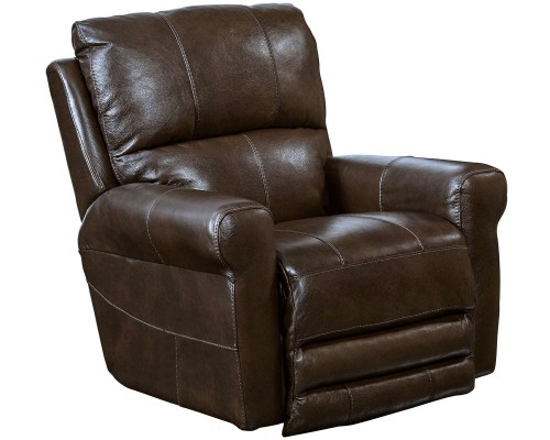 Hoffner Leather Recliner Chair - Chocolate