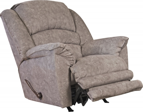 Rialto Power Lay Flat Recliner with Extended Ottoman - Steel