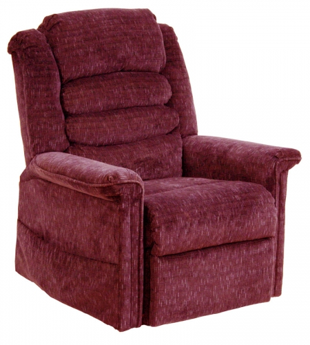 Soother Power Lift Full Lay-Out Chaise Recliner with Heat and Massage - Vino