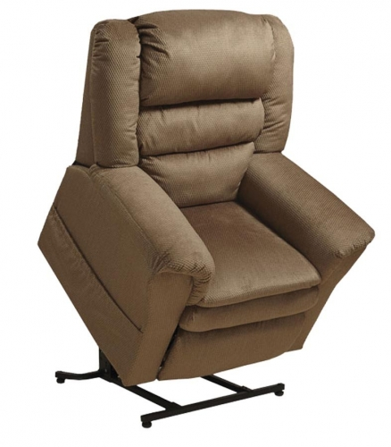 Preston Power Lift Recliner with Pillowtop Seat - Mocha