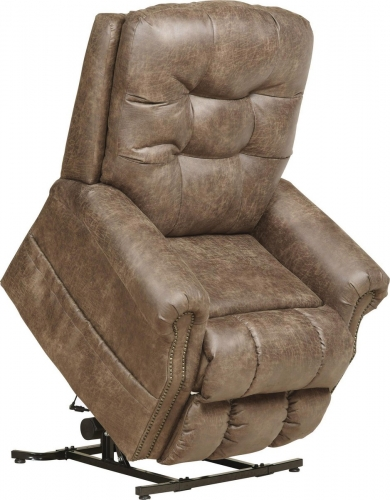 Ramsey Power Lift Lay Flat Recliner with Heat and Massage - Silt