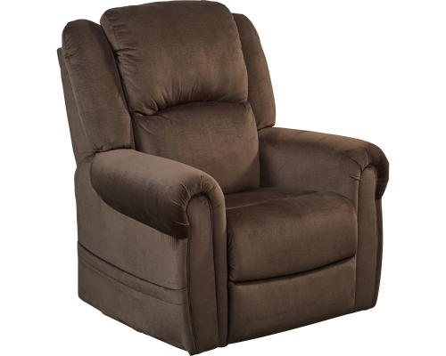 Spencer Power Headrest Power Lift Recliner - Chocolate