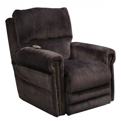 Warner Power Headrest Power Lift Lay Flat Recliner Dual Motor and Extended Ottoman - Slate