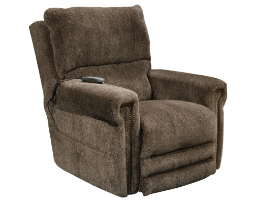 Warner Power Headrest Power Lift Lay Flat Recliner Dual Motor and Extended Ottoman - Tigers Eye