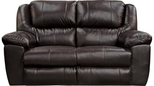 Transformer II Leather Rocking Reclining Loveseat - Chocolate