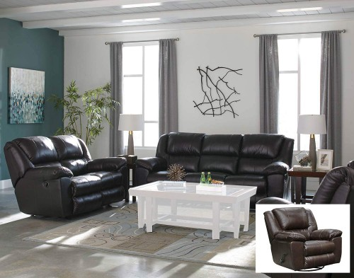 Transformer II Leather Reclining Sofa Set - Chocolate