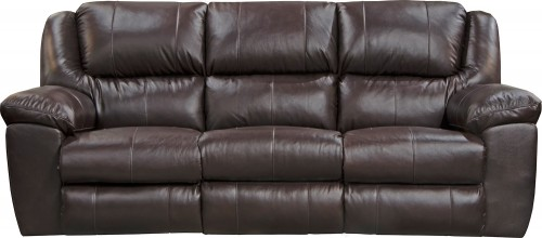 Transformer II Leather Reclining Sofa - Chocolate