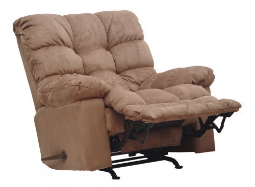Magnum Chaise Rocker Recliner with Heat and Massage