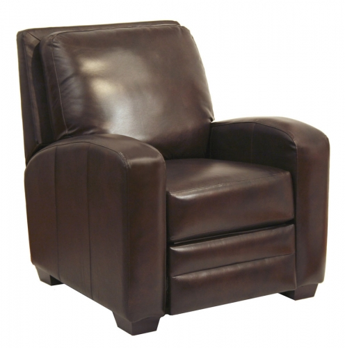Avanti Multi Position No Handle Bonded Leather Recliner - Chocolate