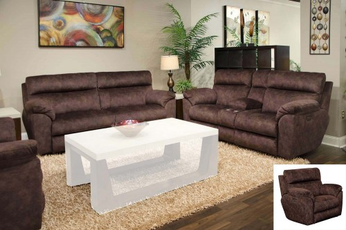 Sedona Power Reclining Sofa Set - Mocha