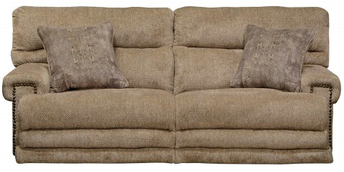 Garrison Power Reclining Sofa - Camel/Pewter