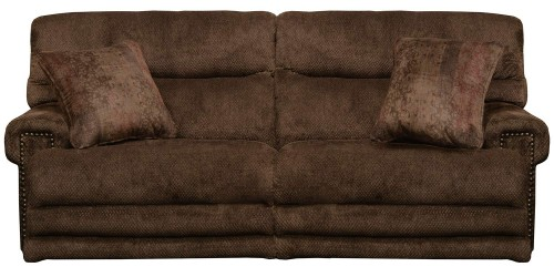 Garrison Power Reclining Sofa - Chocolate/Toffee