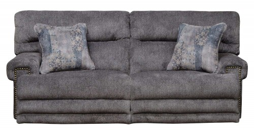 Garrison Power Reclining Sofa - Pewter/Smoke