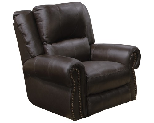 Messina Leather Power Recliner Chair - Chocolate