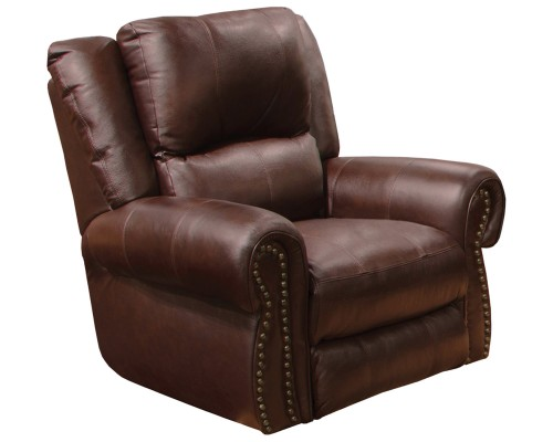 Messina Leather Power Recliner Chair - Walnut