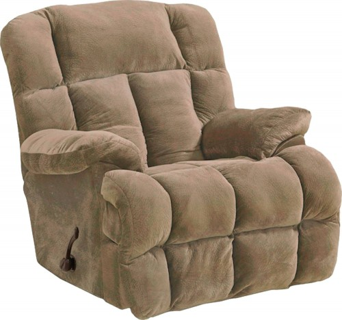 Cloud 12 Chaise Rocker Recliner Chair - Camel