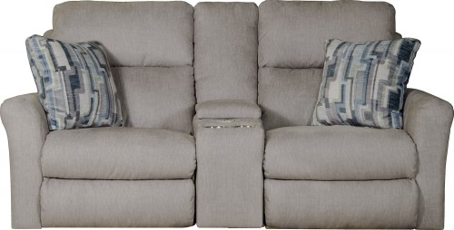 Paloma Power Reclinng Console Loveseat - Fog