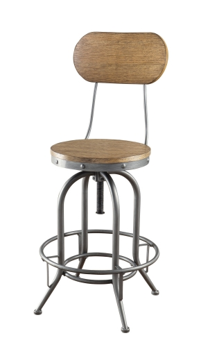 100057 Adjustable Bar Stool - Brown