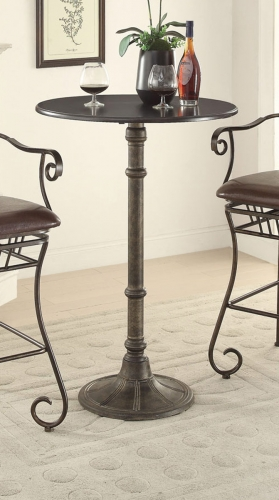 Oswego Round Bar Table - Bronze
