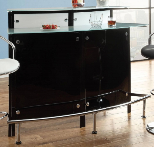 100139 Bar Table - Chrome/Black