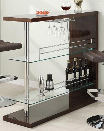 100166 Bar Table - Brown