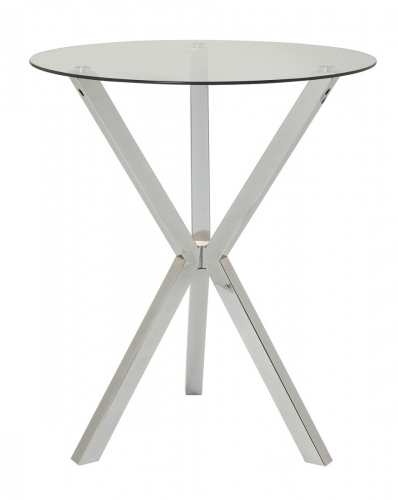100186 Bar Table - Chrome