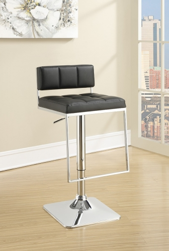 100194 Adjustable Bar Stool - Black/Chrome