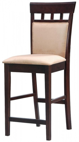 Mix and Match 24 Inch Upholstered Panel Counter Stool - Cappuccino