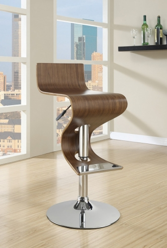 100396 Adjustable Bar Stool - Walnut